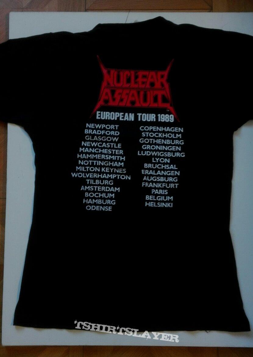 Nuclear Assault- Handle with care European tour 1989 shirt