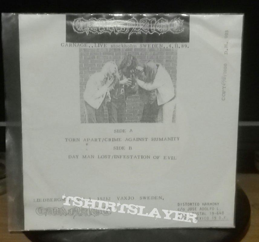 """Carnage- Live Stockholm Sweden 4-11-89 bootleg 7"""""""