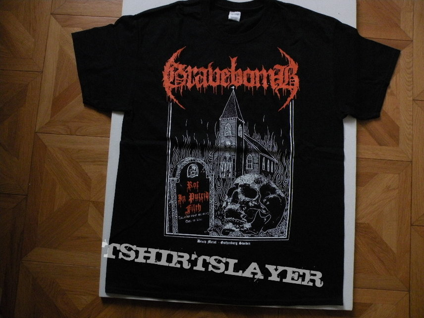 Gravebomb- Rot in putrid filth shirt