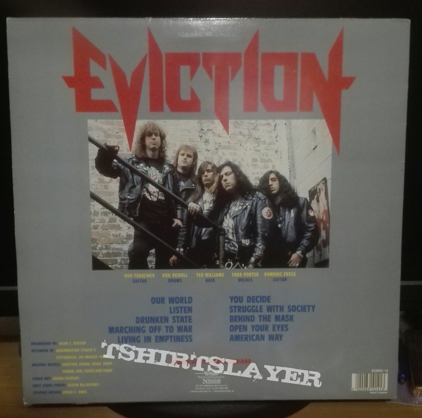 Eviction- The world is hours away ! Lp