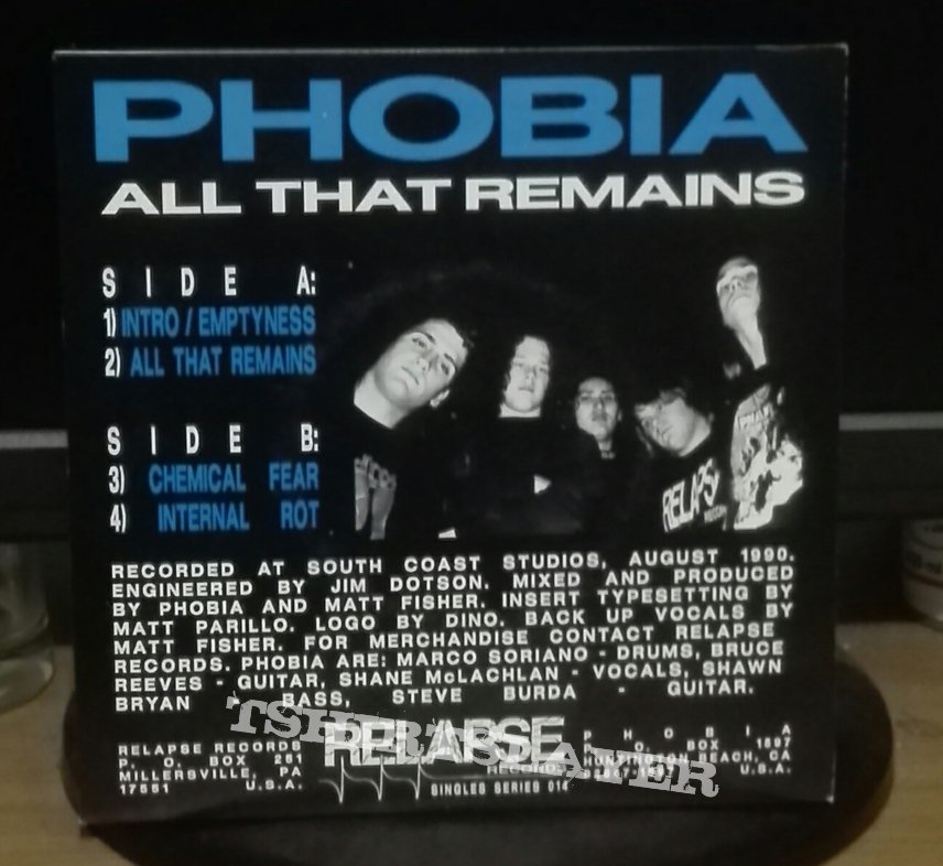 """Phobia- All that remains 7"""""""