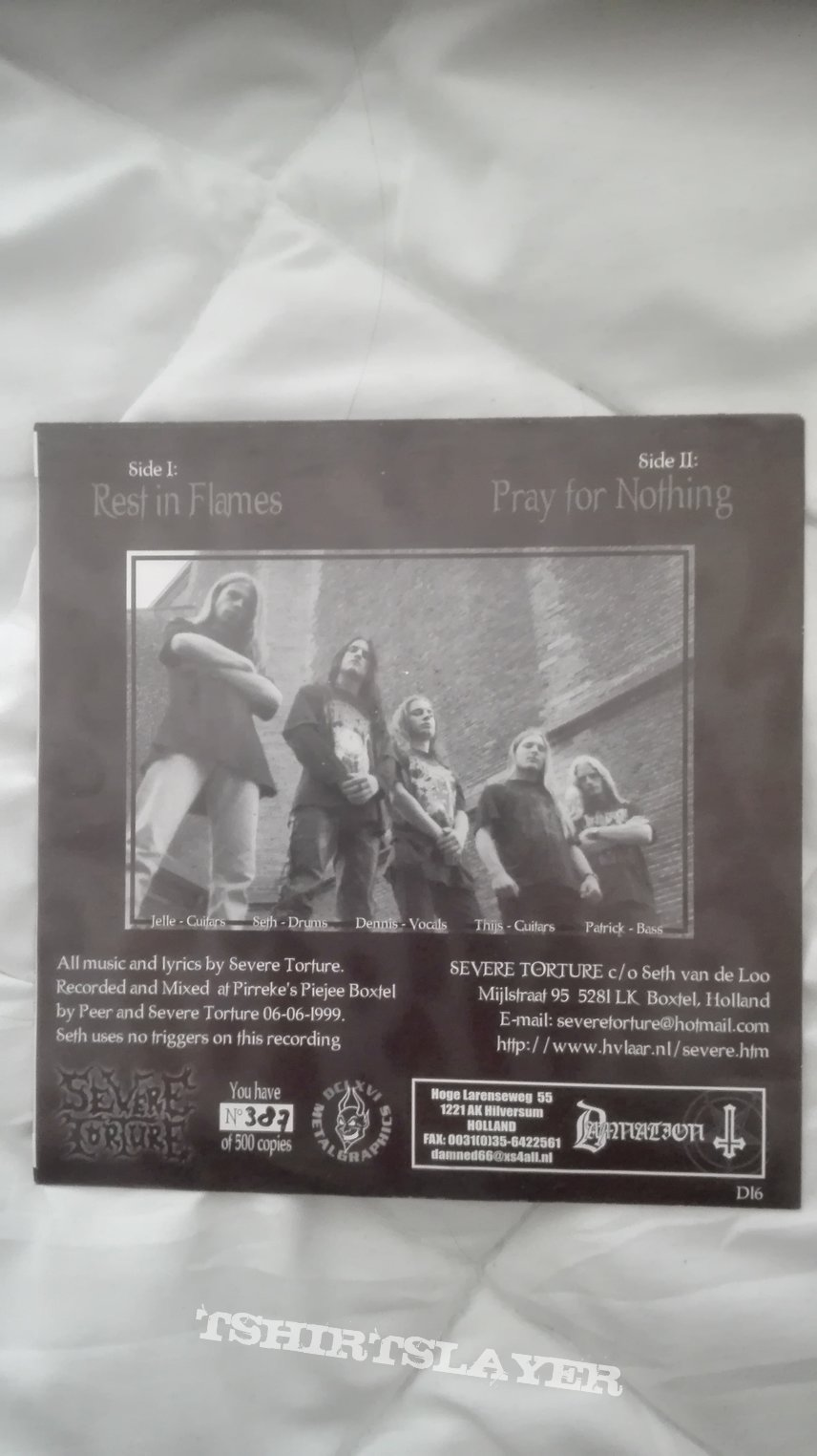 """Severe Torture- Pray for nothing 7"""""""