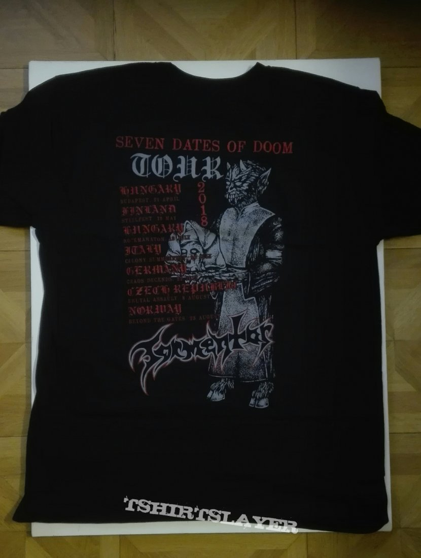 Tormentor- Seven dates of doom 2018 tourshirt