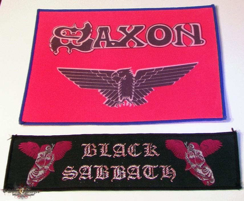 Sabbath & Saxon patches