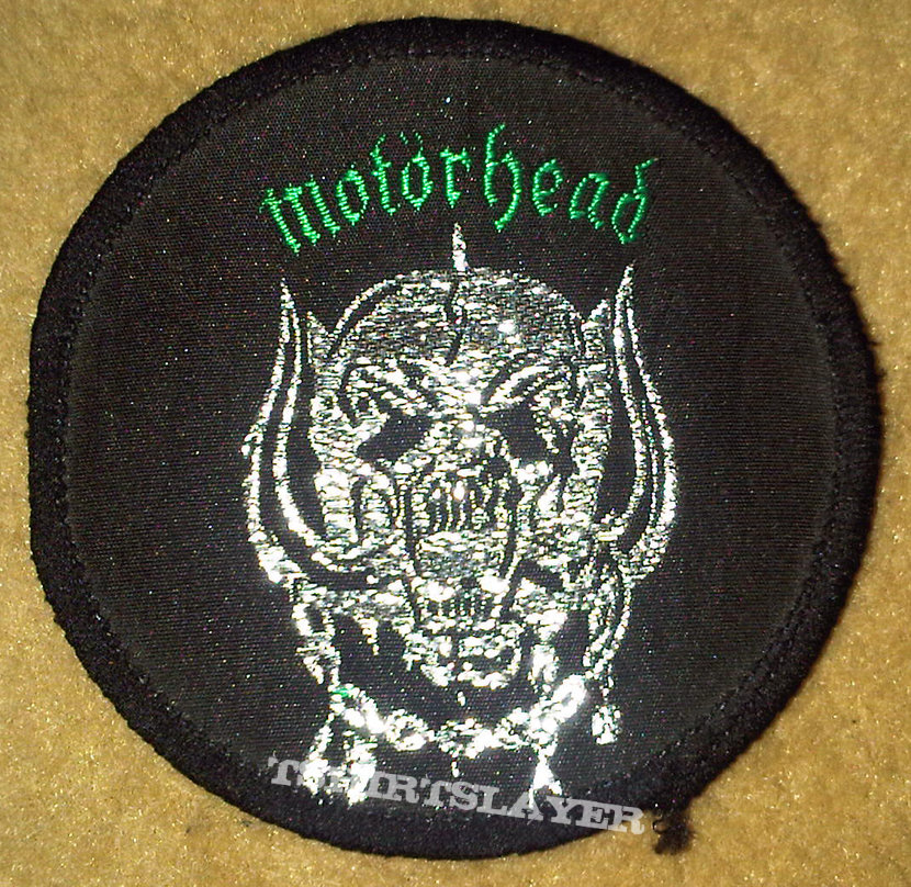 Motörhead Warpig logo patch (green version/early 80s)