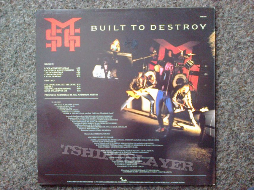 MSG - Built To Destroy LP
