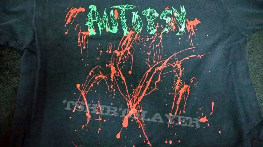 SOLD Autopsy 1988 Green Version Vintage Demo NEAR MINT shirt in L sell.