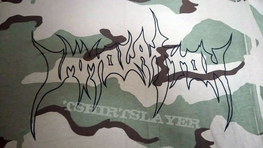Immolation -  Camo Military T-Shirt  in L. NEW Sell