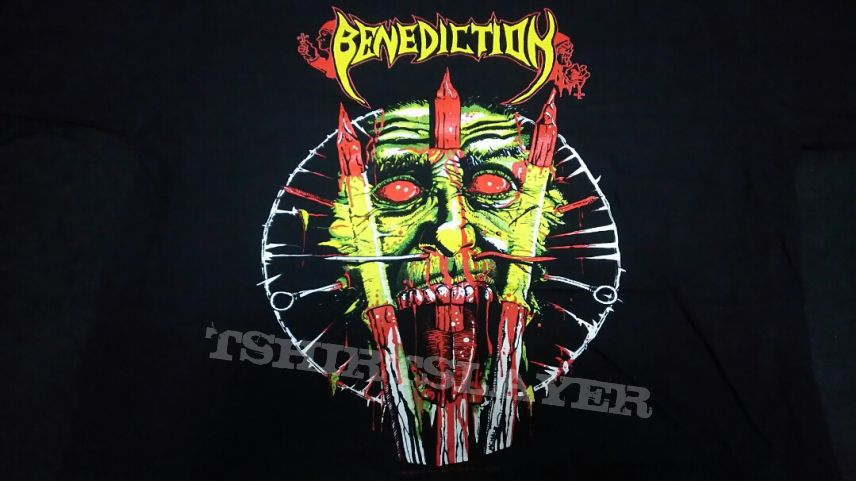 SOLD Benediction - 1993 Euro Tour Original vintage NEW TS in L . Sell