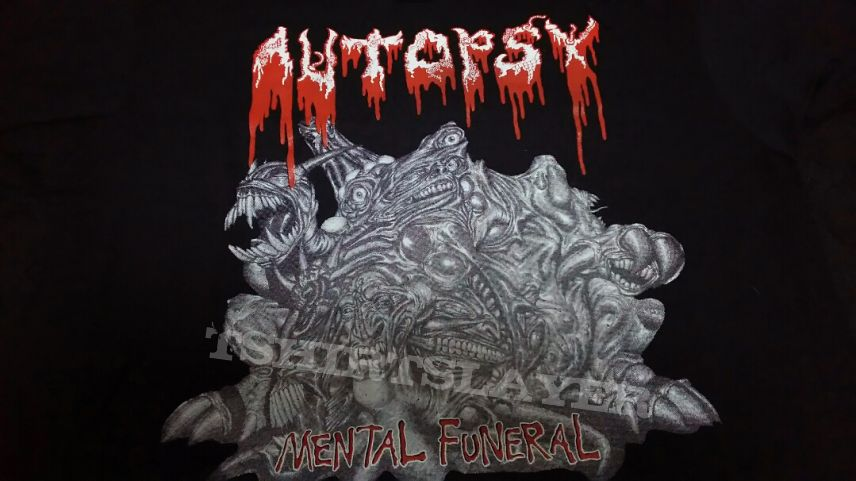 Autopsy - NEW 1991 Mental Funeral shirt in Large size. Sell