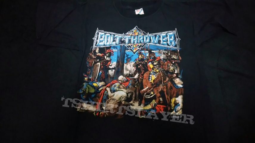 SOLD Bolt Thrower 1992 The IVth Crusade in L size . SELL