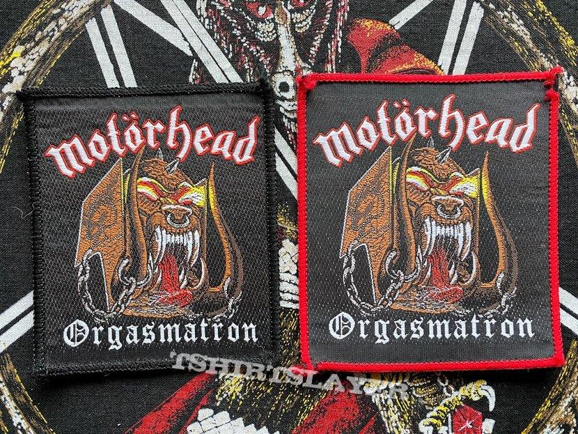 Motörhead Orgasmatron Patches