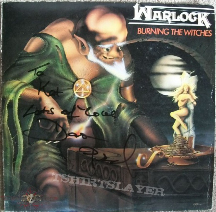 "Other Collectable - signed first printing Warlock ""Burning the Witches"" vinyl"