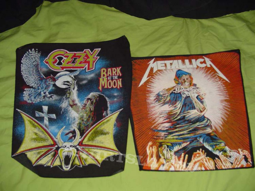 Patch - Metallica/Ozzy unused back patches