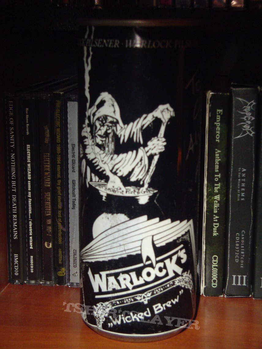 Other Collectable - Warlock - promo beer can autographed