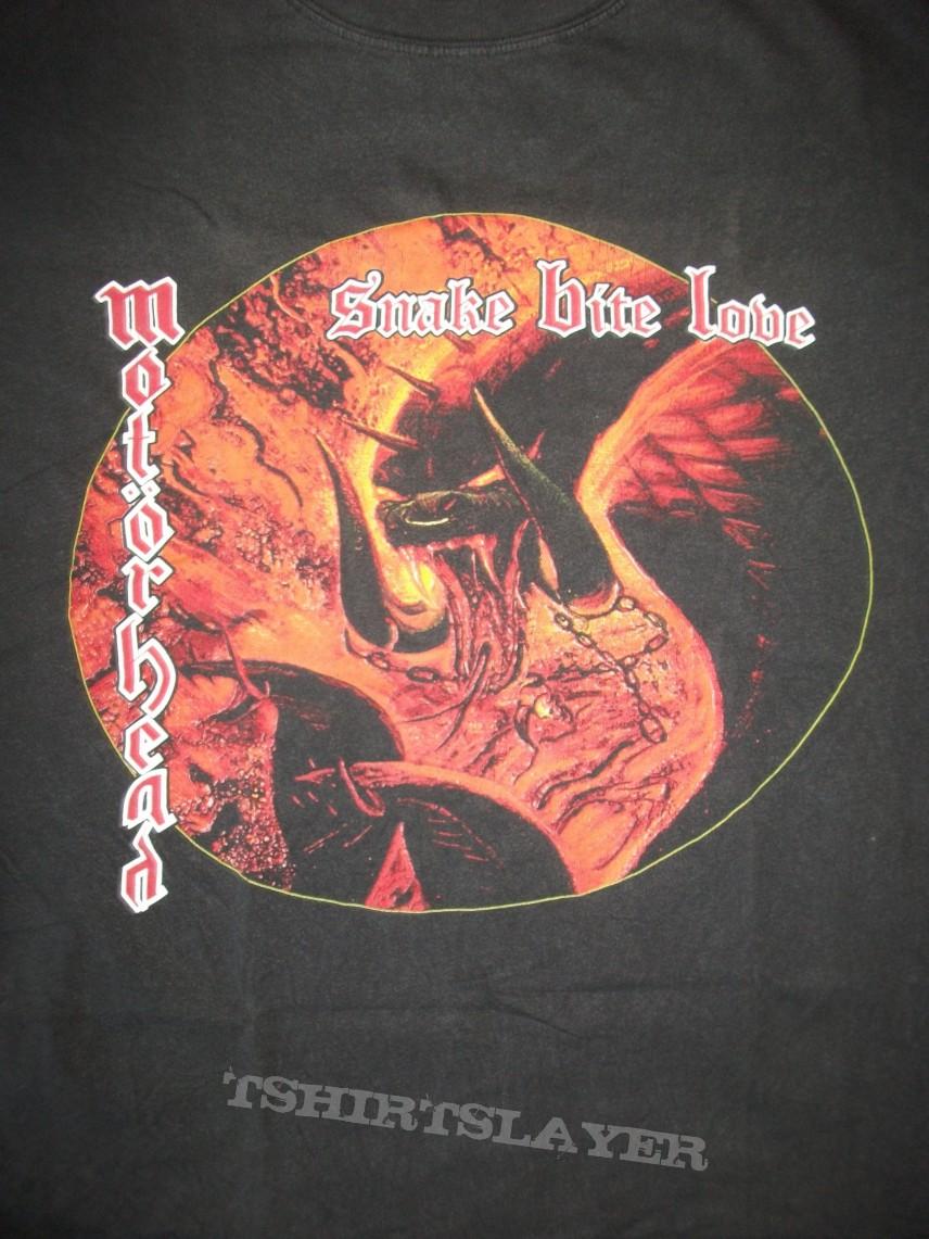 c305da53f811 Daniel Sodomaniac's Motörhead, Motörhead Snake Bite Love tour shirt ...
