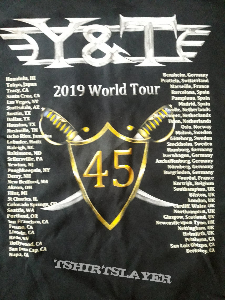 Y&T tour shirt