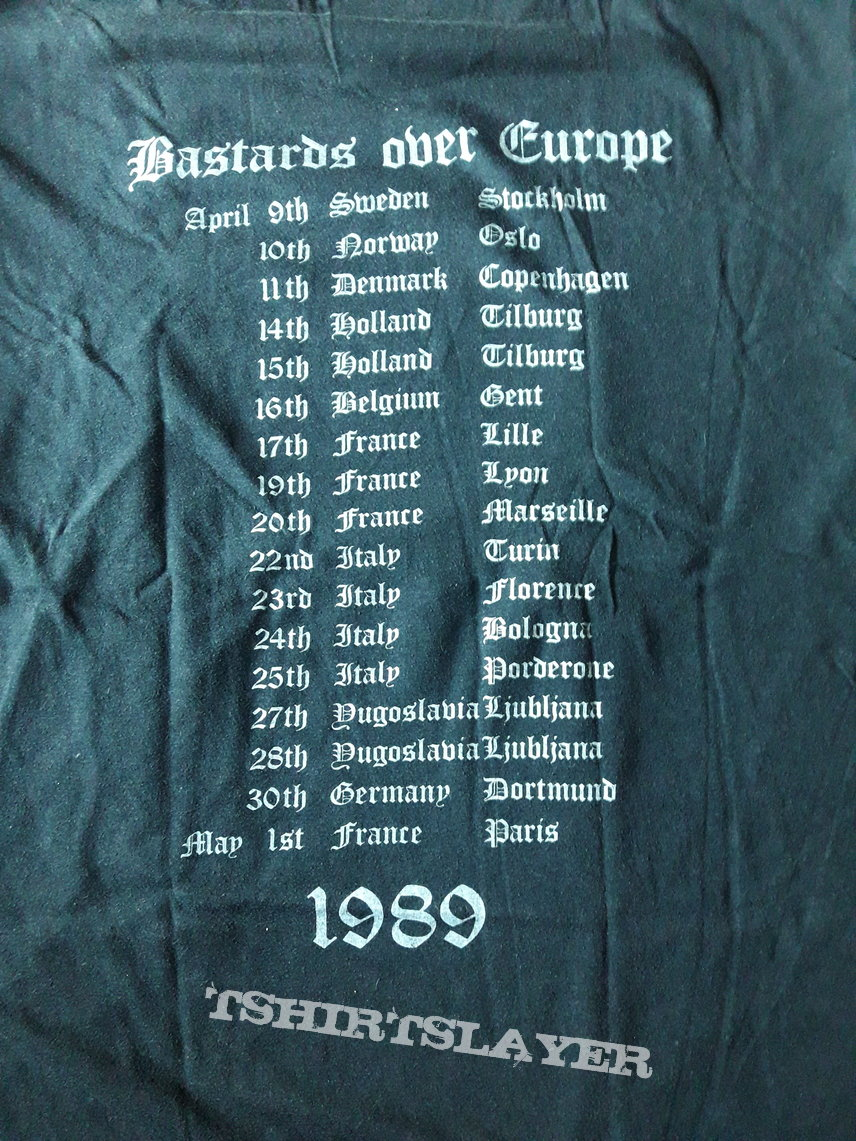 Motörhead Bastards Over Europe tour shirt