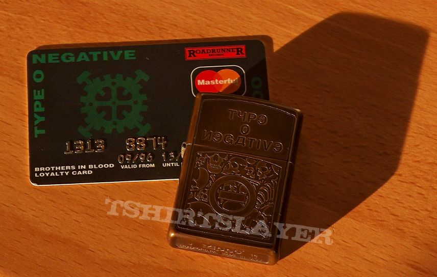 Type O Negative - Dead Again Promo Zippo Lighter and OR Credit Card