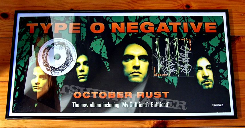 Type O Negative - October Rust Promo Poster With Signed October Rust Booklet And Signed MGG CD Single