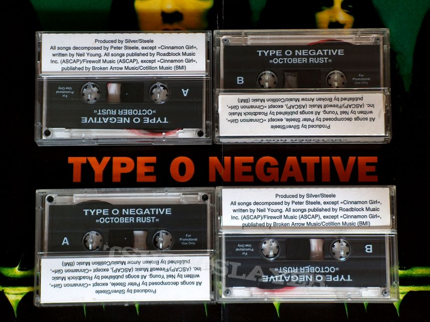 Type O Negative -  4x German October Rust Promo Cassettes