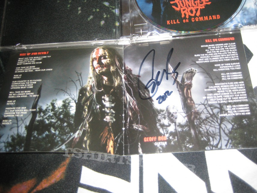 Other Collectable - Jungle Rot - Kill on Command (Signed!)