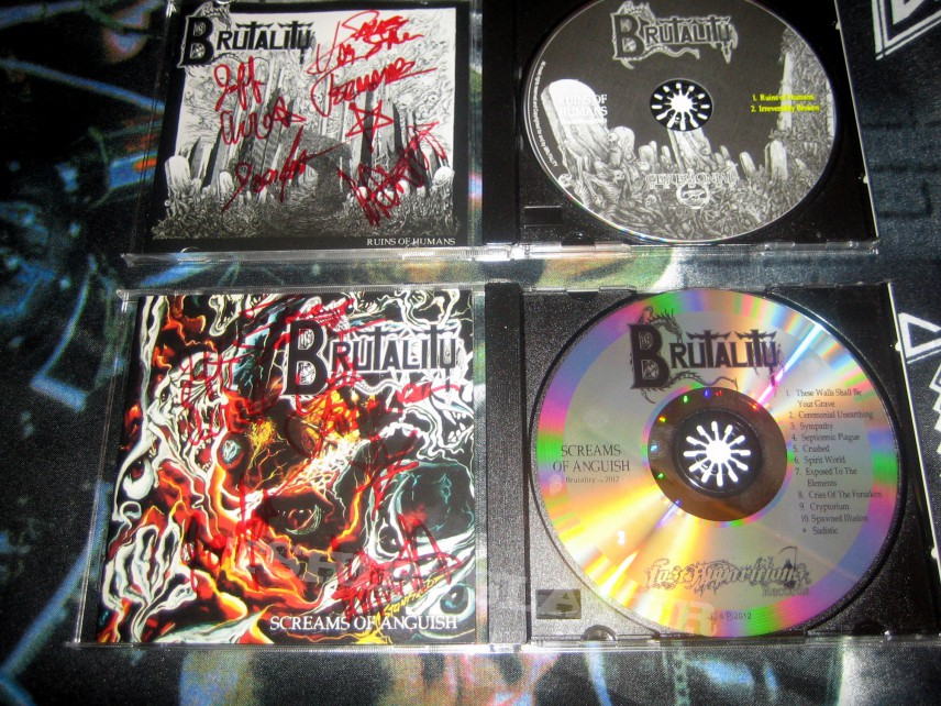 Brutality - Ruins of Humans/Screams of Anguish (signed!)