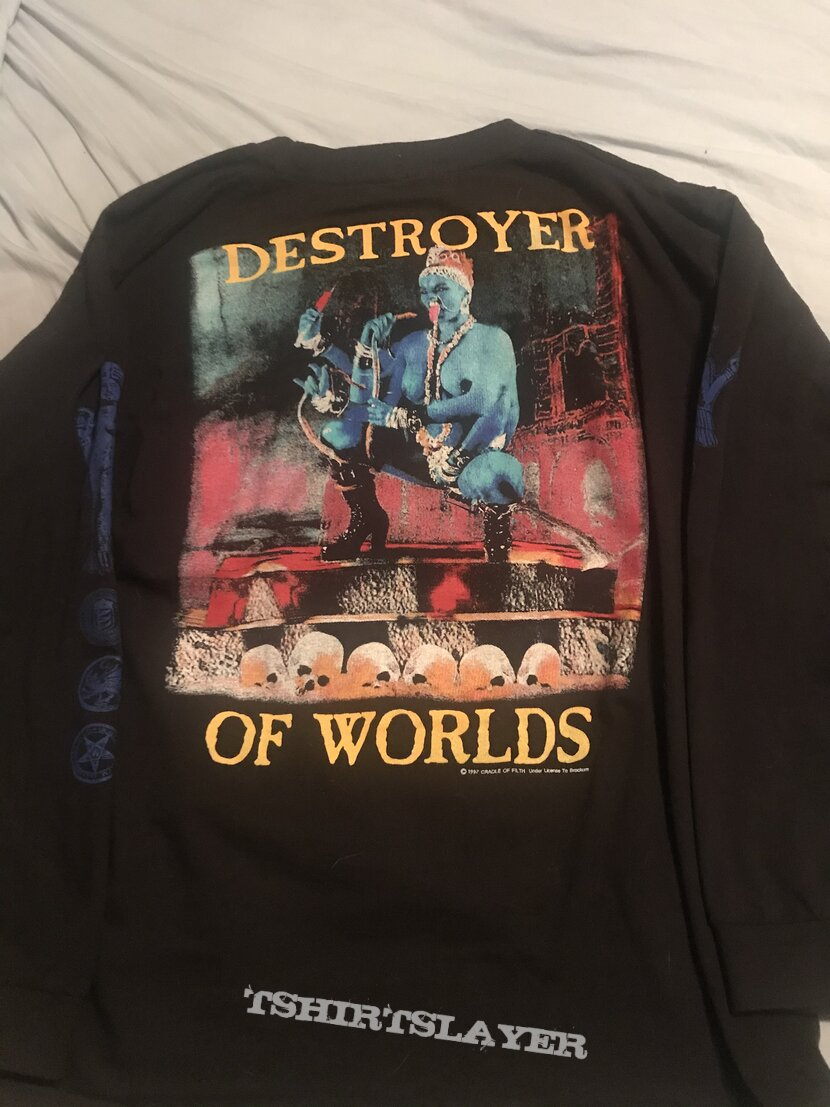 Cradle of Filth - Destroyer of Worlds longsleeve with alt sleeve print