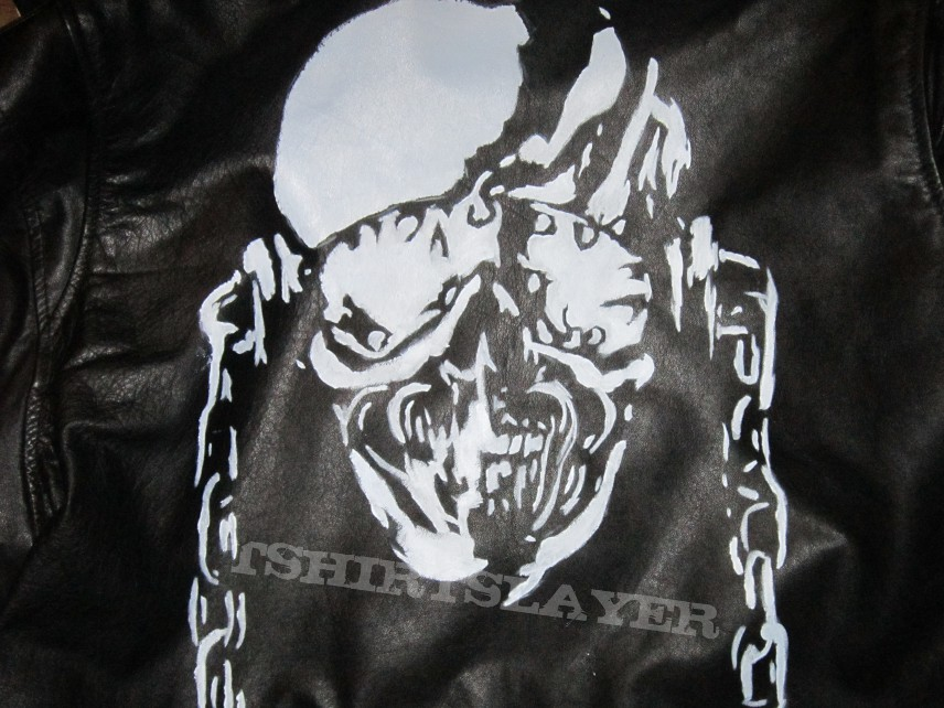 Hand Painted Leather Jacket Tshirtslayer Tshirt And