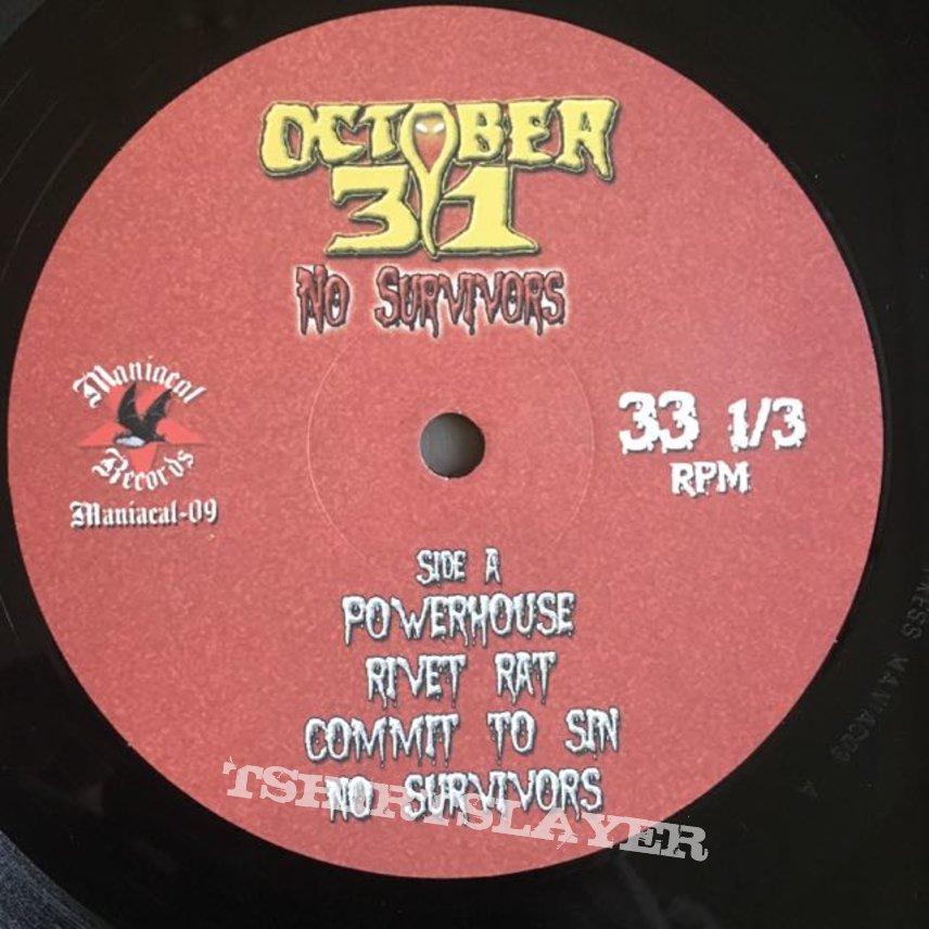 October 31-No Survivors (Ltd.vinyl edition)