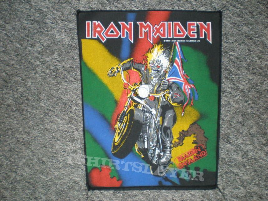 iron maiden ´maiden england `88` back patch