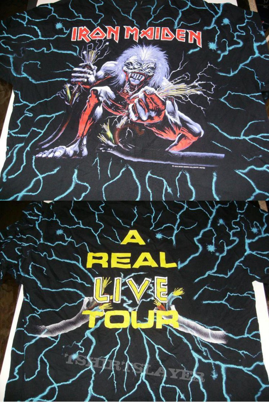 TShirt or Longsleeve - Iron Maiden 'A Real Live Tour'
