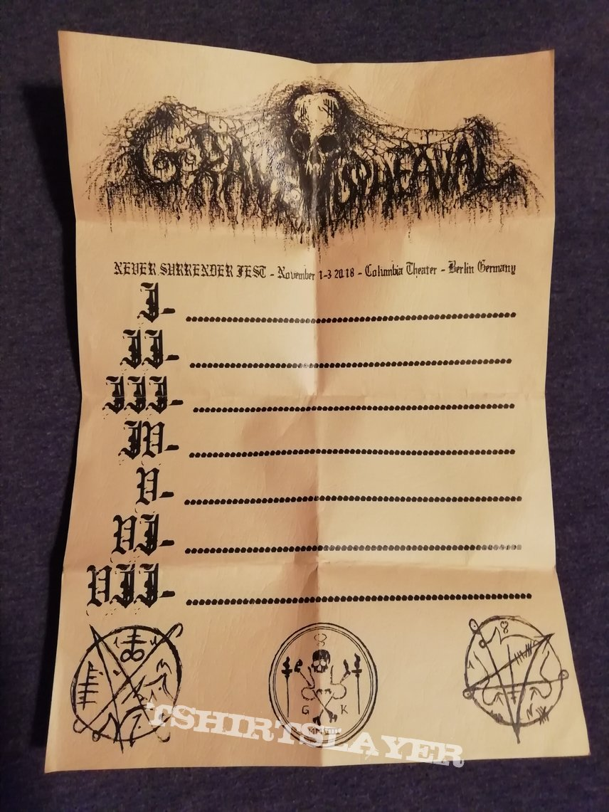 Grave Upheaval set list