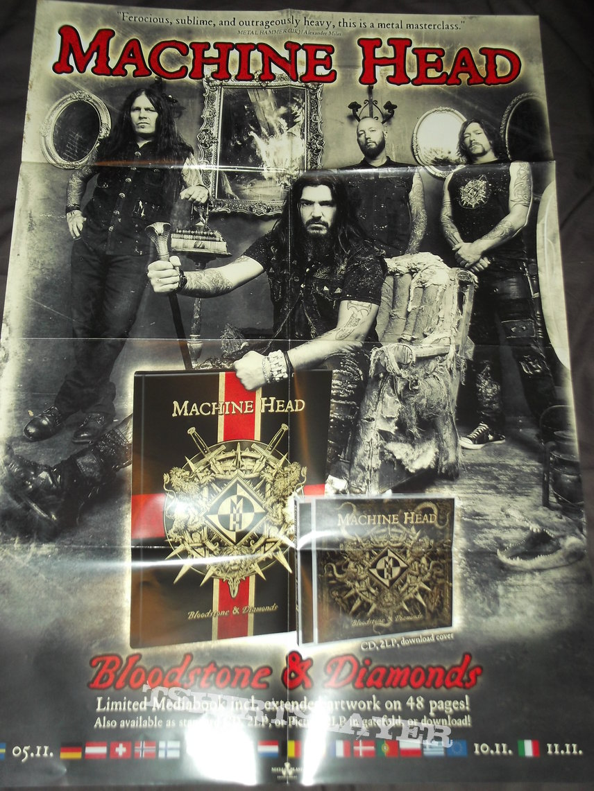 Machine Head - Bloodstone and Diamonds Promotional Poster