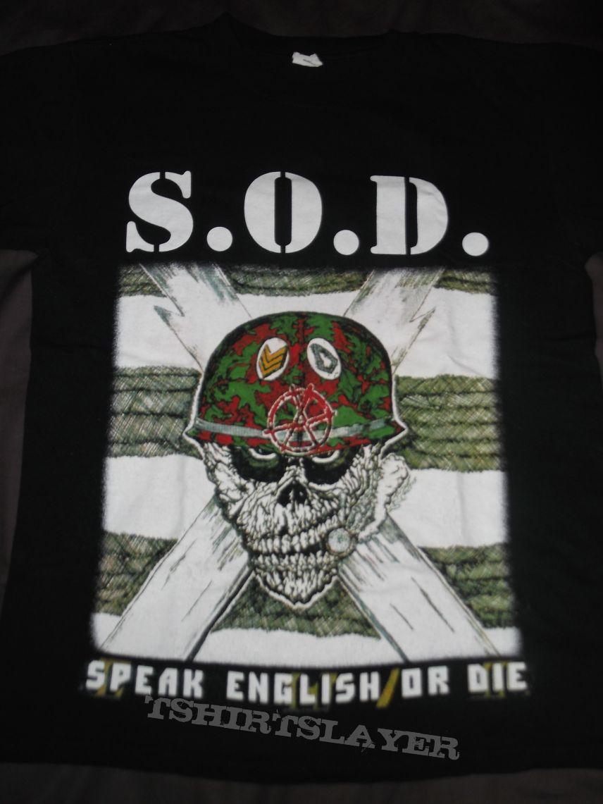 S.O.D. Speak english or Die t-shirt