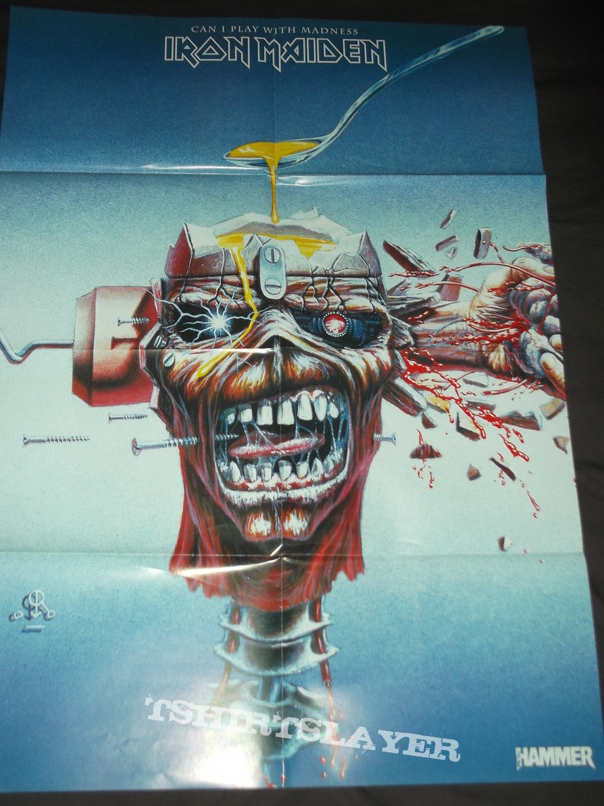 Iron Maiden - Can i play with Madness Poster from Metal Hammer