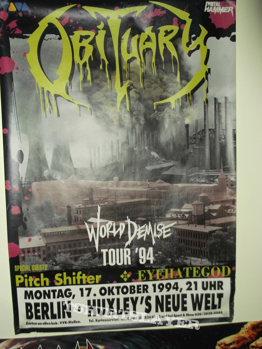 Obituary - World Demise Tour 94 Poster