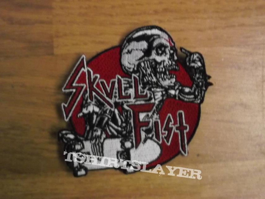 Skull Fist - Skater Skull Patch