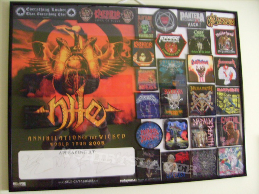 Framed Nile poster + patches