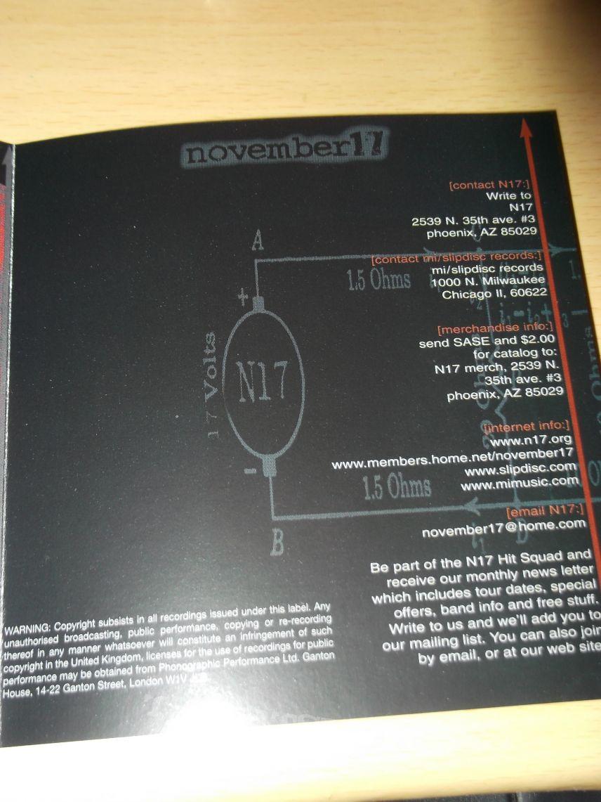 N17 AKA November 17 - Defy Everything CD