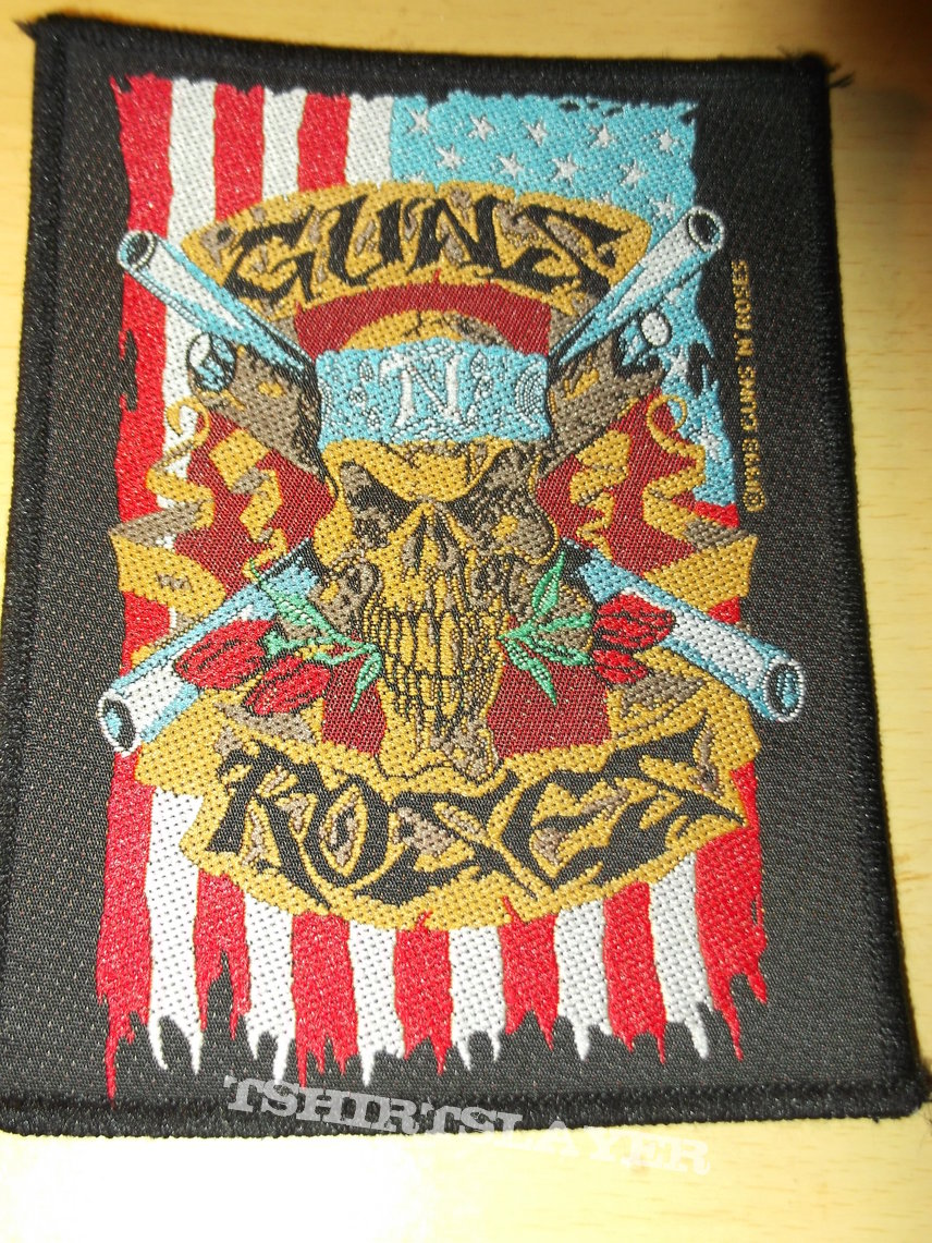 Guns n' Roses - Skull and Flag Patch