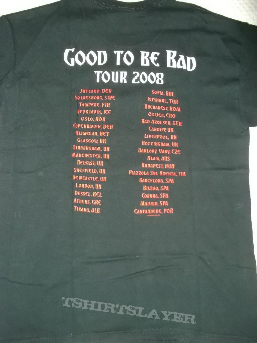 T shirt whitesnake - Whitesnake Good To Be Bad Tour 2008 T Shirt