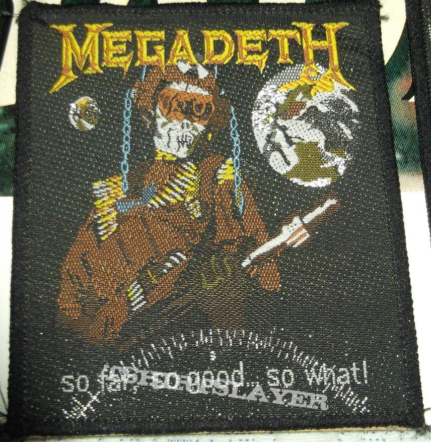 Megadeth - So far, so good so What? Patch
