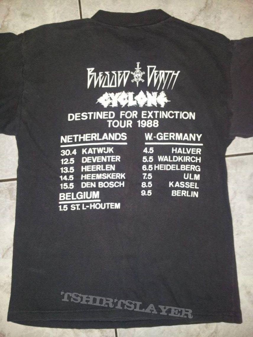 Blessed Death / Cyclone original tour shirt
