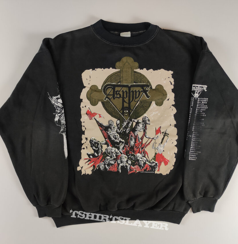 Asphyx The Rack 1991 tour sweatshirt