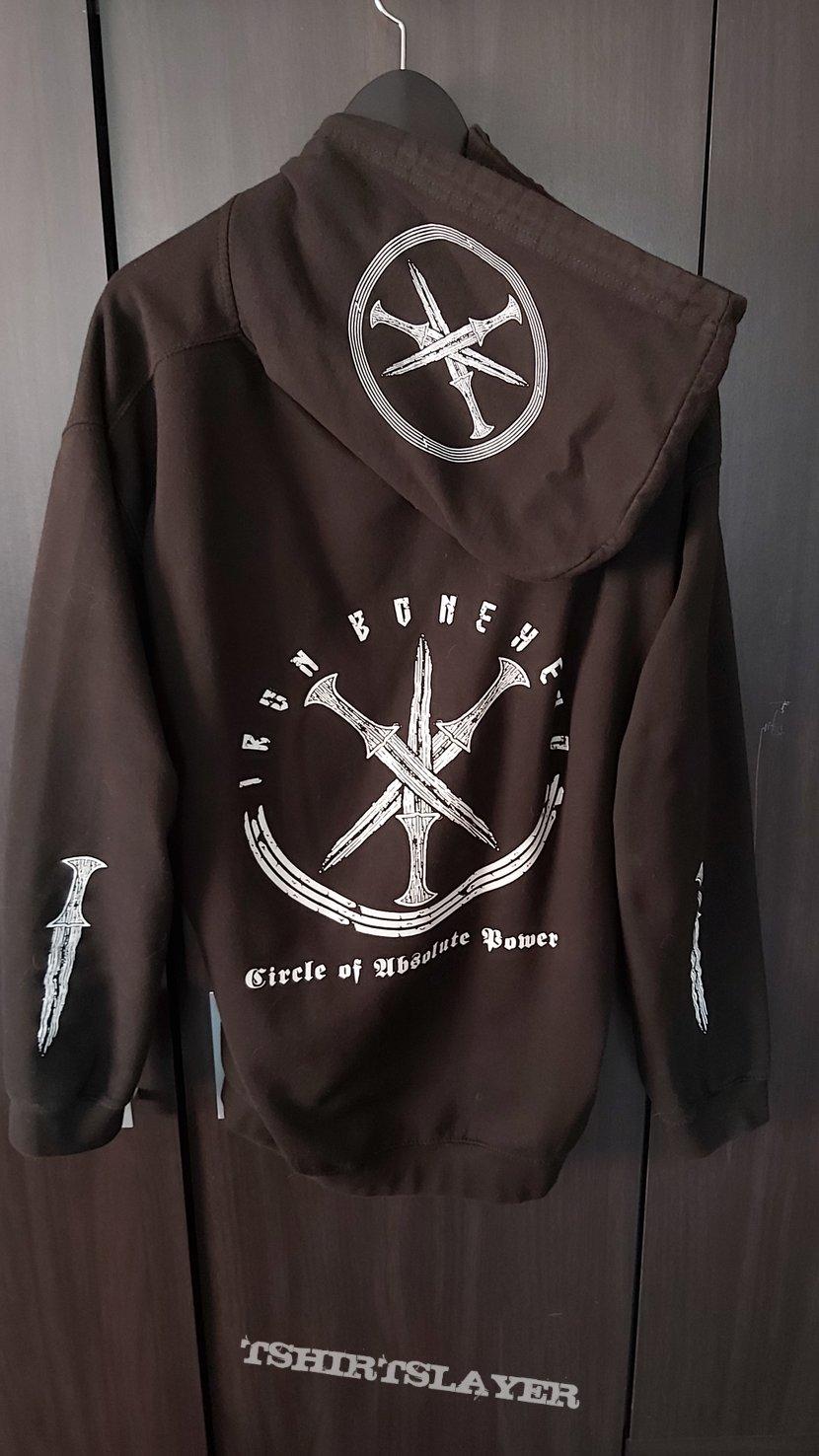 Iron Bonehead Circle of Absolute Power Zipped Hoodie XL
