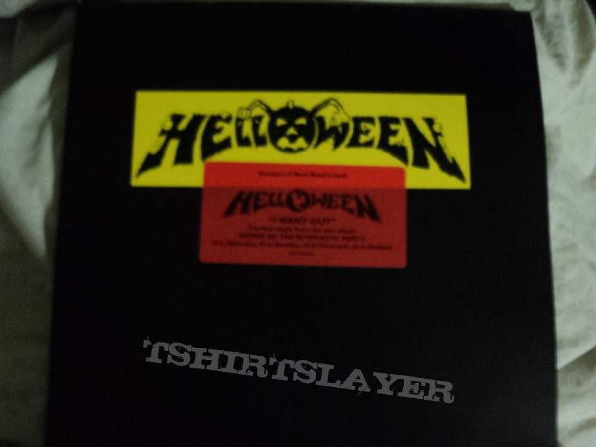 Helloween promo 'I Want Out' vinyl.