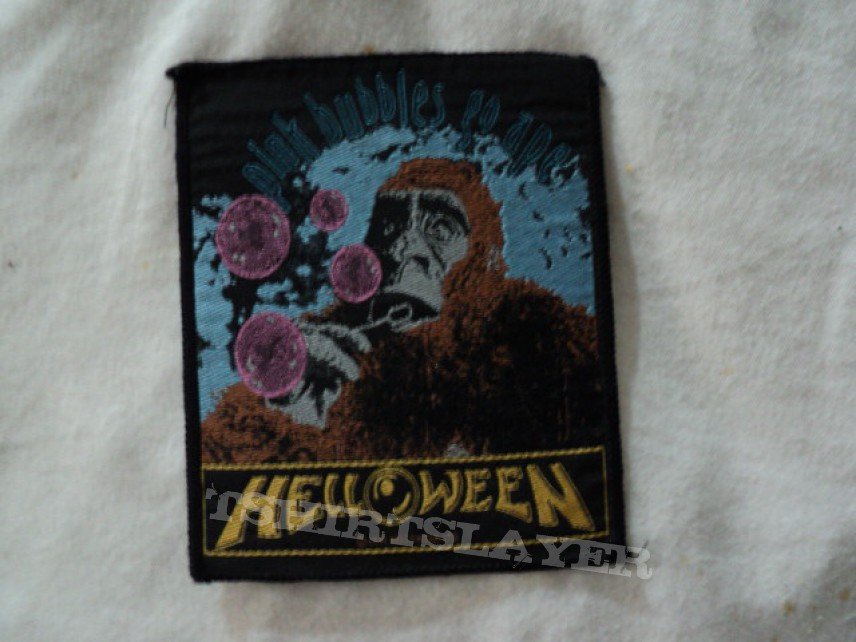 Patch - Helloween 'Pink Bubbles Go Ape' woven patch.