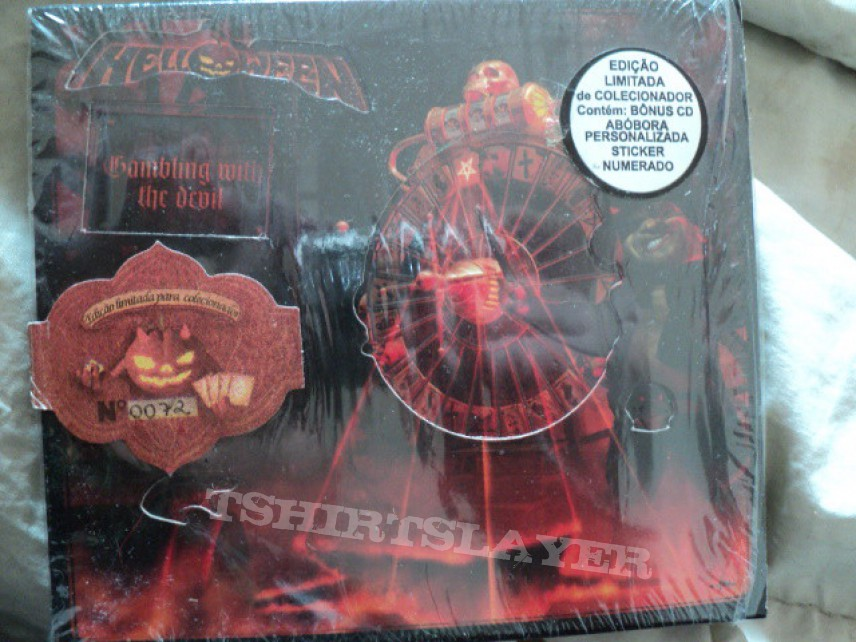 Helloween 'Gambling with the Devil' limited edition Brazilian release.