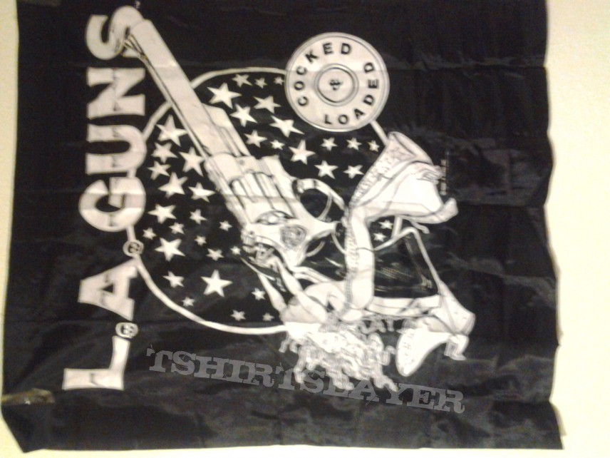 LA GUNS wall banner vintage